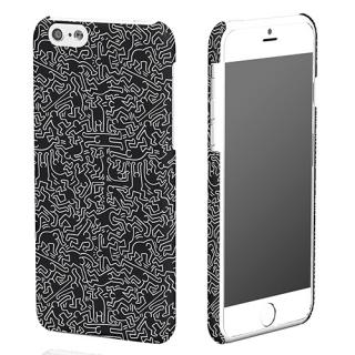 キース・へリング コレクション ハードケース ピープル/ブラック x ホワイト iPhone 6ケース