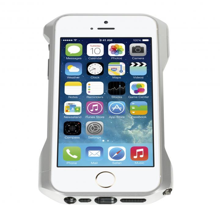 CLEAVE PREMIUM ALUMINUM BUMPER ZERO iPhone SE/5s/5 Silver