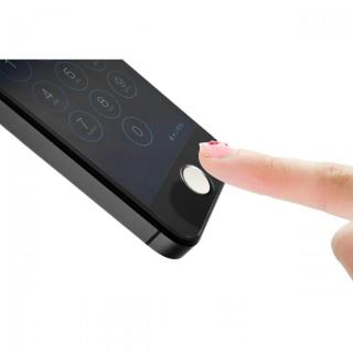 TouchID対応 ホームボタンシール ifinger シルバーホワイト