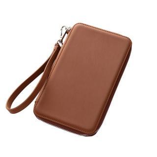 カラフル合皮レザーストラップ・ポーチ ブラウン iPhone 6 Plusケース