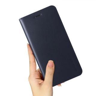 【iPhone XS/Xケース】VERUS 本革手帳型ケース ネイビー iPhone XS/X_4