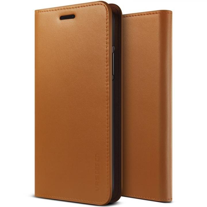 VERUS 本革手帳型ケース ブラウン iPhone X