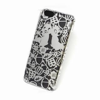 カスタムケース ディズニー シルバー チップ&デール シルエット iPhone 6s/6ケース