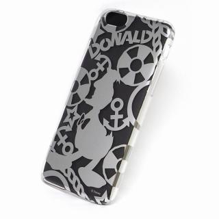 カスタムケース ディズニー シルバー ドナルド シルエット iPhone 6ケース