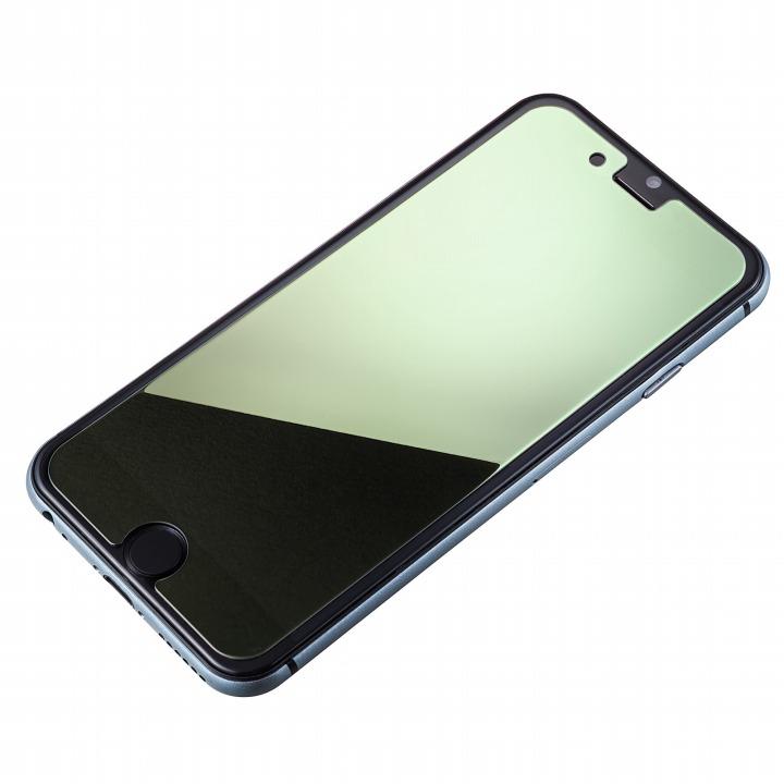 [0.33mm]鏡面シルバー強化ガラス iPhone 6