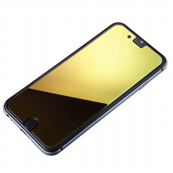 [0.33mm]鏡面ゴールド強化ガラス iPhone 6