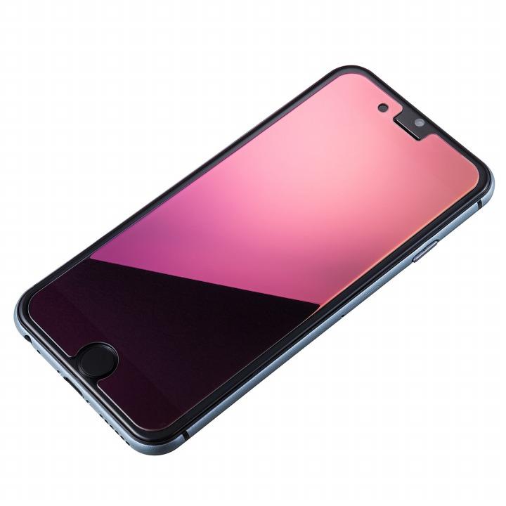 [0.33mm]鏡面ピンク強化ガラス iPhone 6