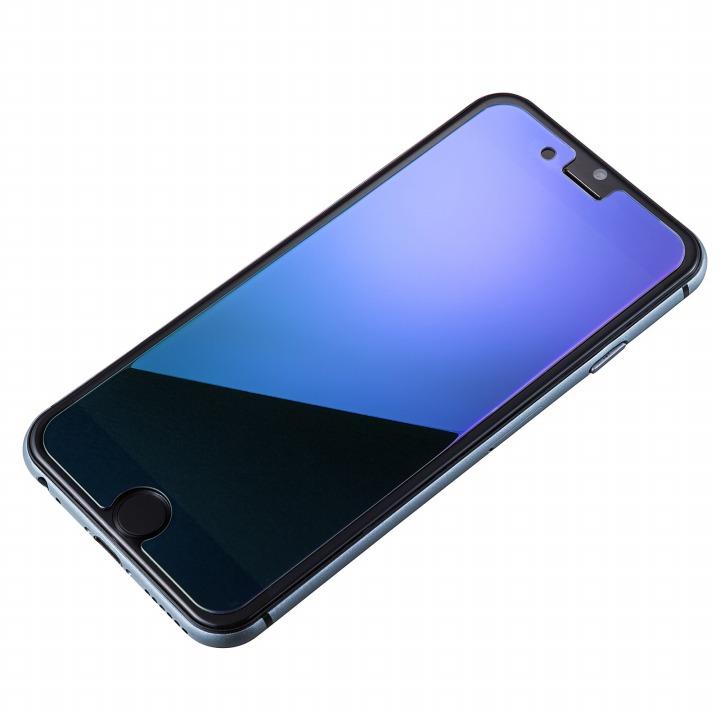 iPhone6s/6 フィルム [0.33mm]鏡面ブルー強化ガラス iPhone 6s/6_0