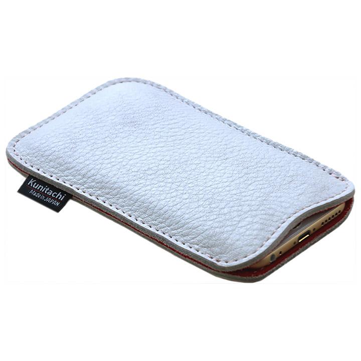 職人が作るシュリンクレザースリーブ iPhone 6s/6 ルーズフィット ホワイト×レッド