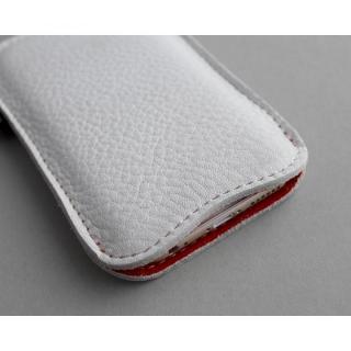 【iPhone6s/6ケース】職人が作るシュリンクレザースリーブ iPhone 6s/6 ジャストフィット ホワイト×レッド_1