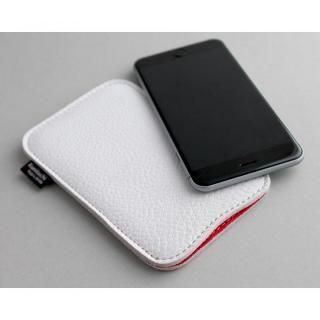 【iPhone6s/6ケース】職人が作るシュリンクレザースリーブ iPhone 6s/6 ジャストフィット ホワイト×レッド_4