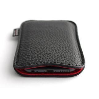 職人が作るシュリンクレザースリーブ iPhone 6s/6 ルーズフィット ブラック×レッド