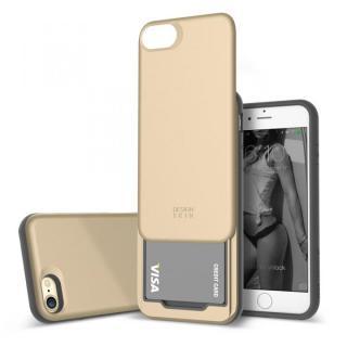 iPhone7 ケース DESIGNSKIN スライダーポケットケース ゴールド iPhone 7