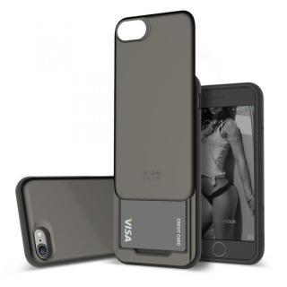 DESIGNSKIN スライダーポケットケース ブラック iPhone 7【10月上旬】