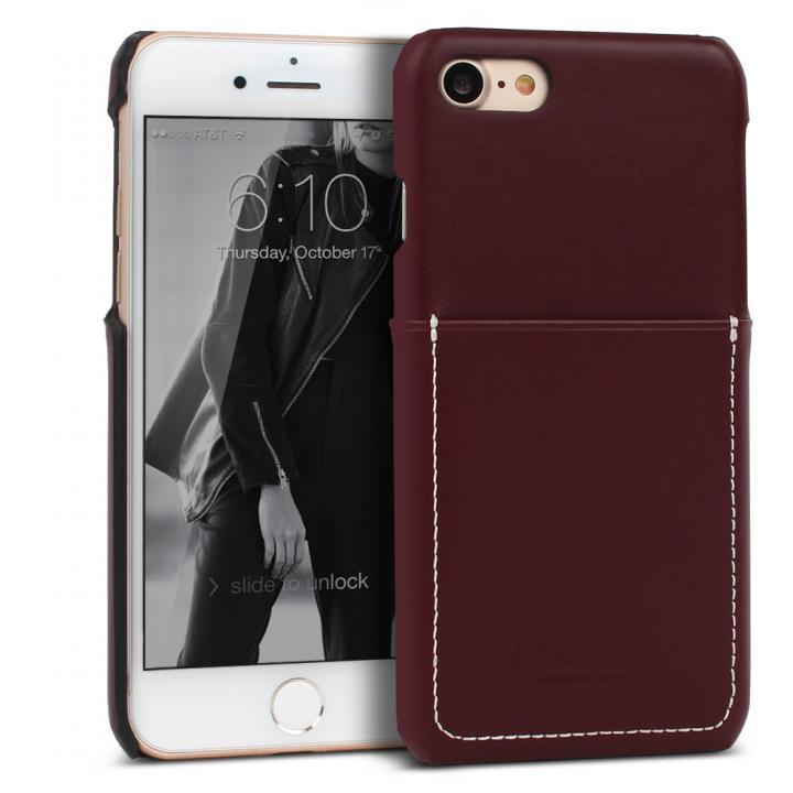 iPhone7 ケース DESIGNSKIN 牛革ポケットケース ダークブラウン iPhone 7_0