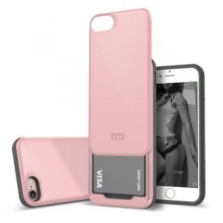 DESIGNSKIN スライダーポケットケース ピンク iPhone 7