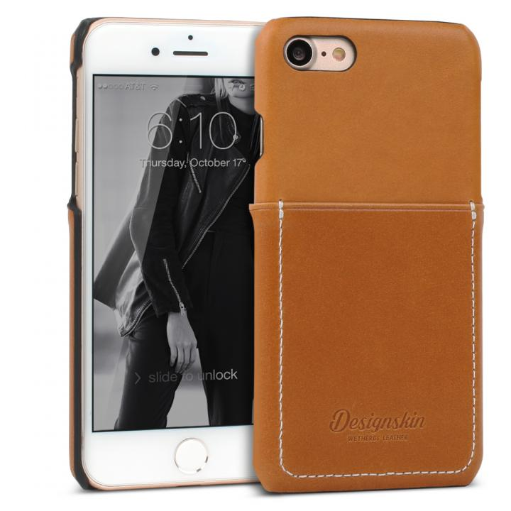 iPhone7 ケース DESIGNSKIN 牛革ポケットケース ブラウン iPhone 7_0