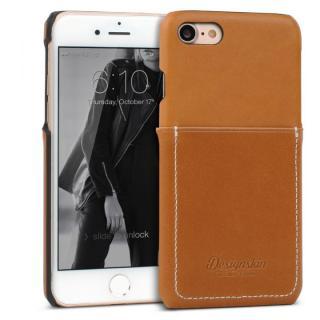 DESIGNSKIN 牛革ポケットケース ブラウン iPhone 7【10月上旬】