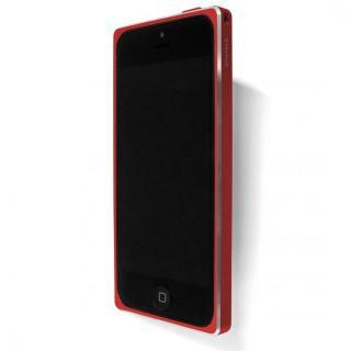 直線が美しいアルミバンパー GRAMAS Metal Bumper 513 for iPhone 5s/5 レッド