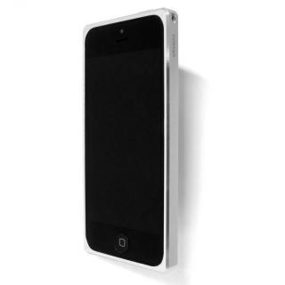 直線が美しいアルミバンパー GRAMAS Metal Bumper 513  iPhone SE/5s/5 シルバー
