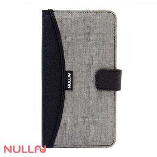 NULL FASHION ウォレット手帳型ケース グレー iPhone X