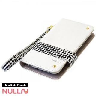 NULL CHIDORI ストライプ手帳型ケース ホワイト iPhone X