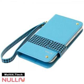 NULL CHIDORI ストライプ手帳型ケース ブルー iPhone X