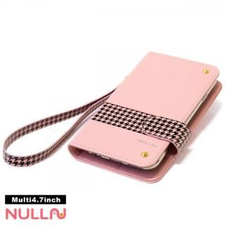 NULL CHIDORI ストライプ手帳型ケース ピンク iPhone X
