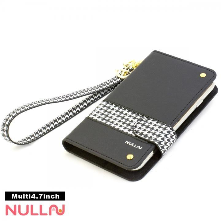 NULL CHIDORI ストライプ手帳型ケース ブラック iPhone X