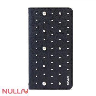 NULL FASHION スタッズ手帳型ケース ブラック iPhone X