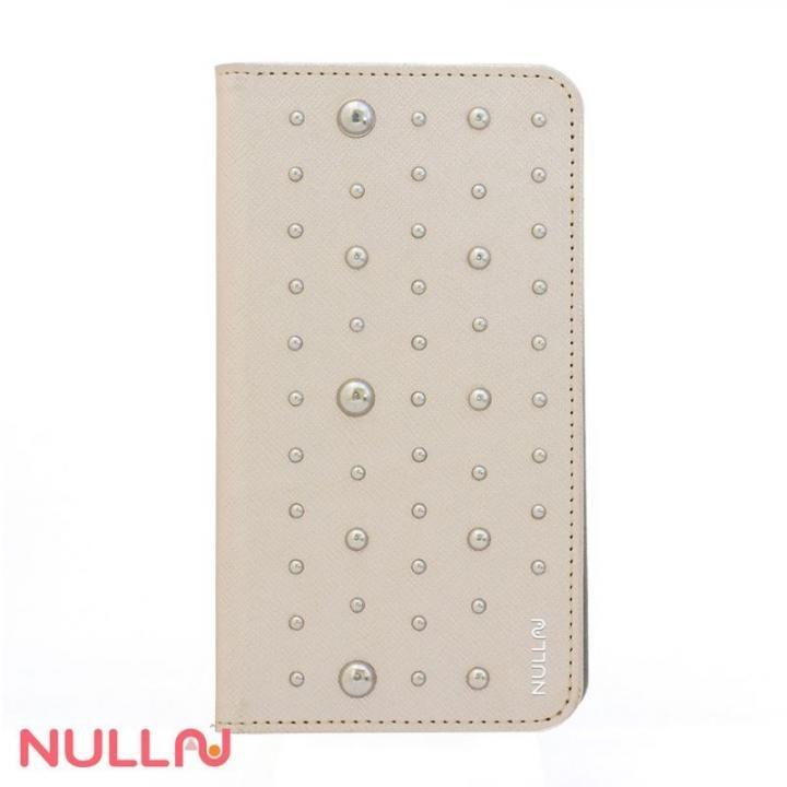 NULL FASHION スタッズ手帳型ケース ピンクゴールド iPhone X