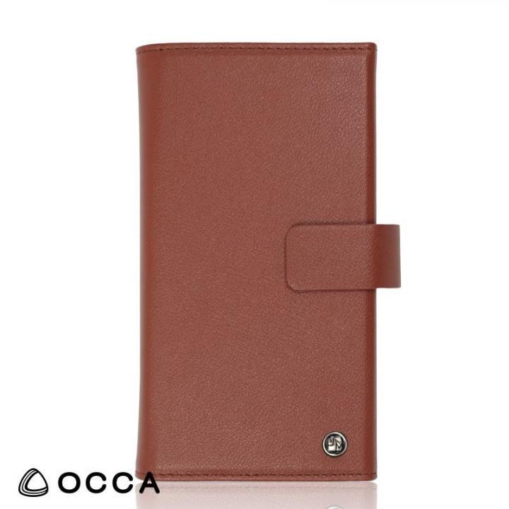 OCCA Wallstreet 三つ折手帳型ケース ブラウン iPhone 8