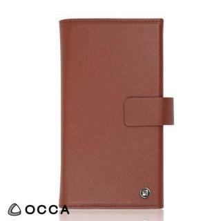 【iPhone8 ケース】OCCA Wallstreet 三つ折手帳型ケース ブラウン iPhone 8