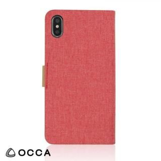 OCCA Linen 手帳型ケース ピンク iPhone X