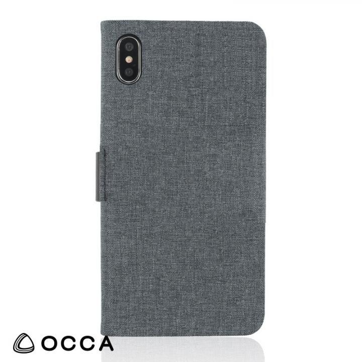 iPhone X ケース OCCA Linen 手帳型ケース ブラック iPhone X_0