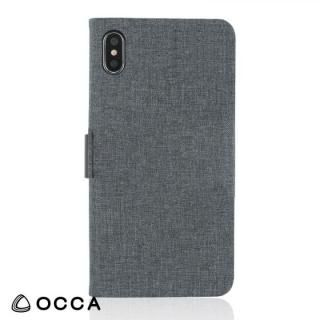 OCCA Linen 手帳型ケース ブラック iPhone X