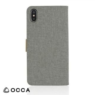 OCCA Linen 手帳型ケース グレー iPhone X