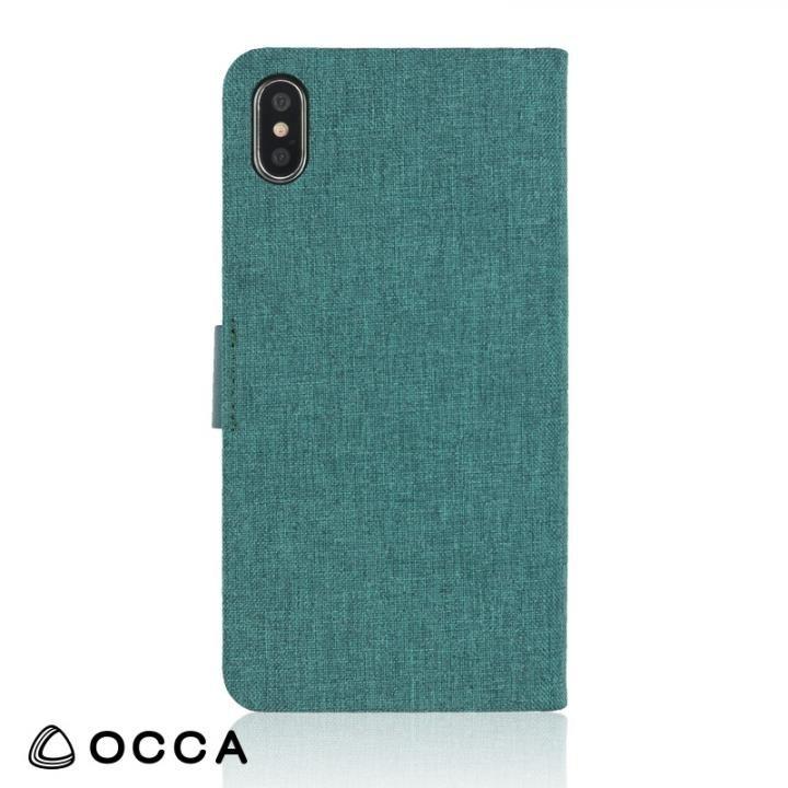 【iPhone Xケース】OCCA Linen 手帳型ケース オリーブ iPhone X_0