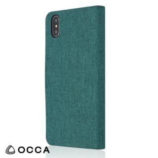 【iPhone Xケース】OCCA Linen 手帳型ケース オリーブ iPhone X_2