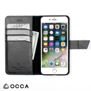 【iPhone Xケース】OCCA Linen 手帳型ケース オリーブ iPhone X_5