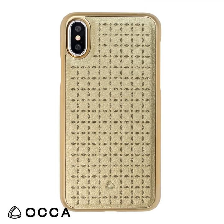 [2018バレンタイン特価]OCCA Spade PUレザーケース ゴールド iPhone X