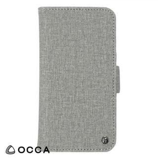 OCCA Coach お財布手帳型ケース グレー iPhone X