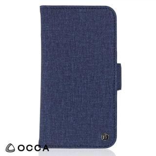 OCCA Coach お財布手帳型ケース ネイビー iPhone X