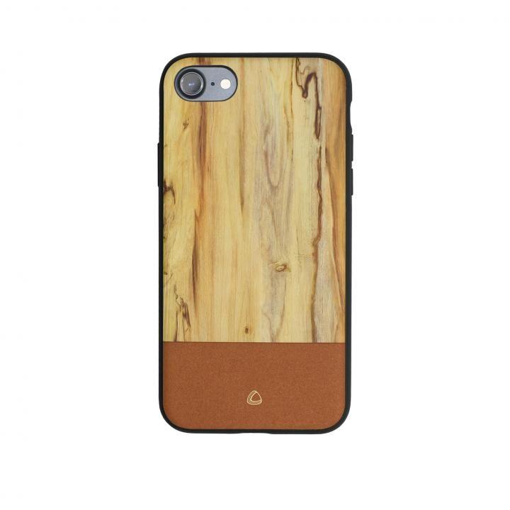 OCCA Wooden ウッドパターンケース ナチュラル iPhone X