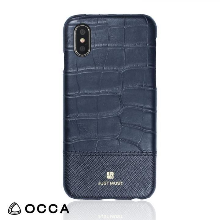 OCCA Croco IV クロコ柄PUケース ブラック iPhone X