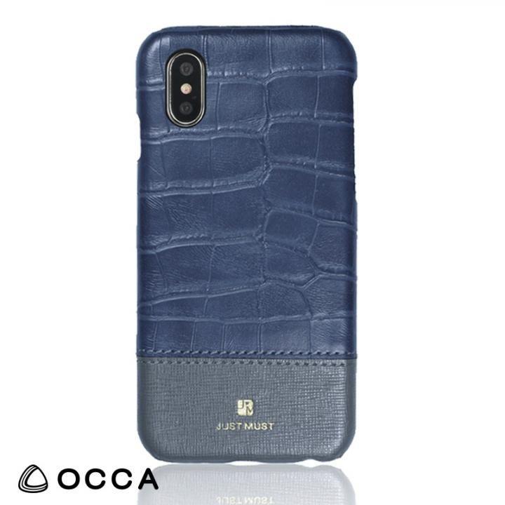 【iPhone Xケース】OCCA Croco IV クロコ柄PUケース グレー iPhone X_0