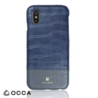 OCCA Croco IV クロコ柄PUケース グレー iPhone X