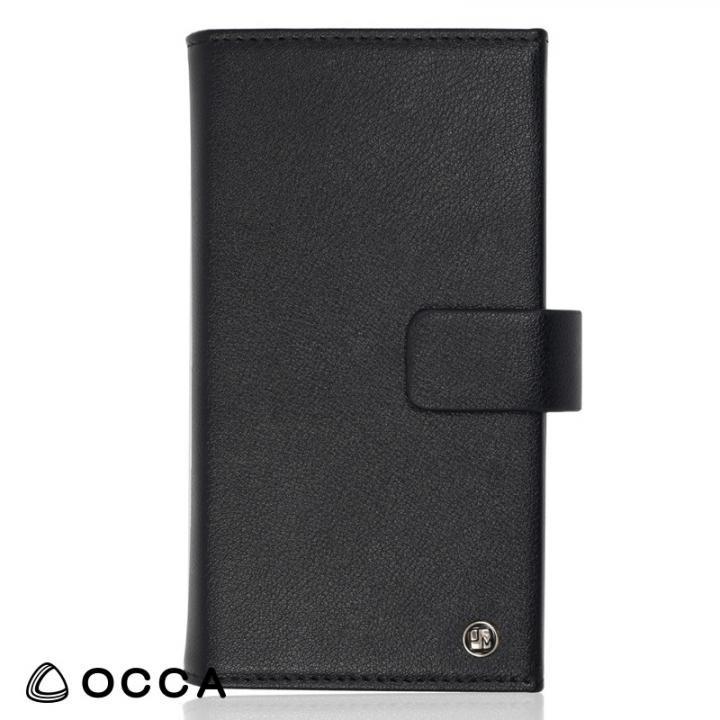 iPhone X ケース OCCA Wallstreet 三つ折手帳型ケース ブラック iPhone X_0
