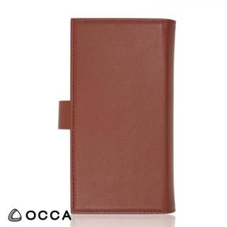 【iPhone Xケース】OCCA Wallstreet 三つ折手帳型ケース ブラウン iPhone X_1
