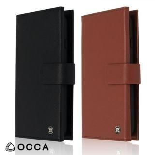【iPhone Xケース】OCCA Wallstreet 三つ折手帳型ケース ブラウン iPhone X_4